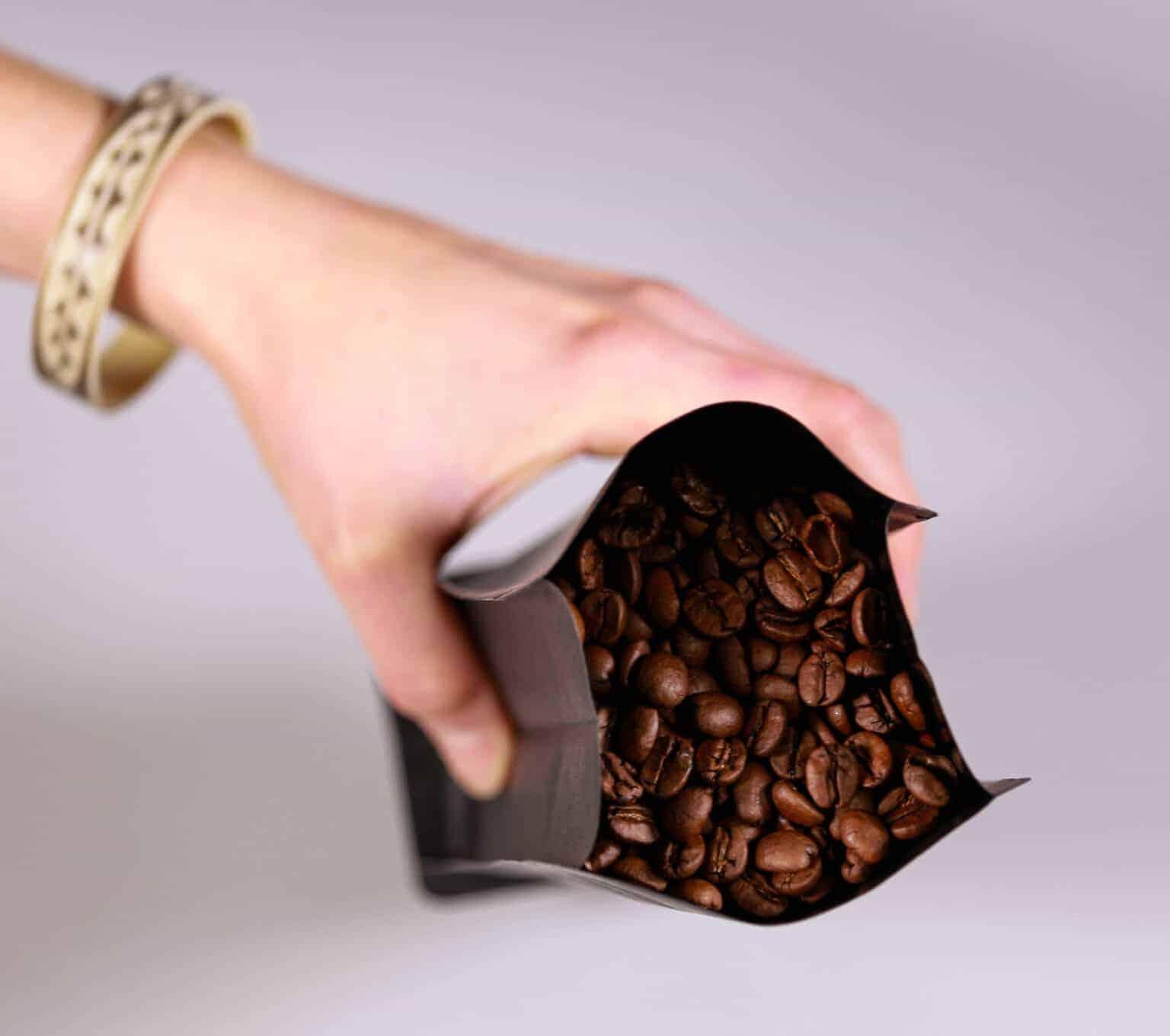 verpackung kaffeebohnen